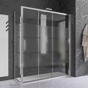Box Doccia Serigrafato 70x170 cm 3 Ante scorrevoli h. 200 cm per trasformazione vasca/doccia