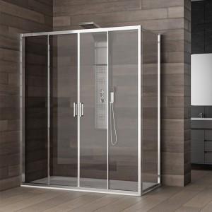Box doccia 70x170  h.200 cm per trasformare la vasca da bagno in box doccia