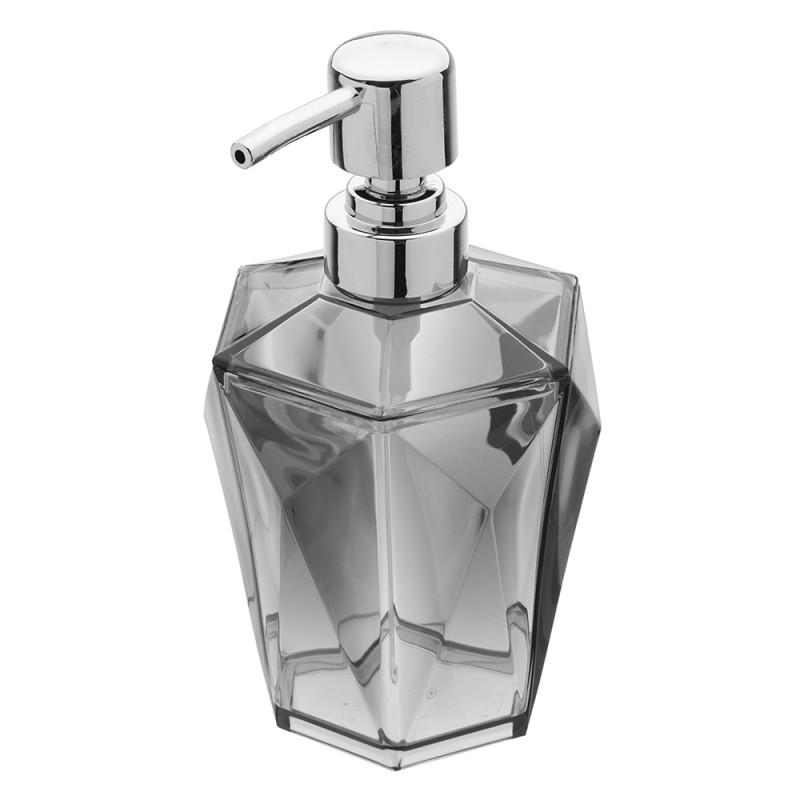 Dispenser Sapone Grigio Trasparente Forma A Diamante