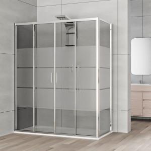 Box doccia 70x170 cm Serigrafato per trasformare la vasca da bagno in box doccia