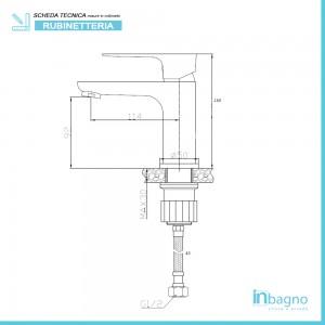 Miscelatore Lavabo con Piletta Clic/Clac Cromato Feridras - 2