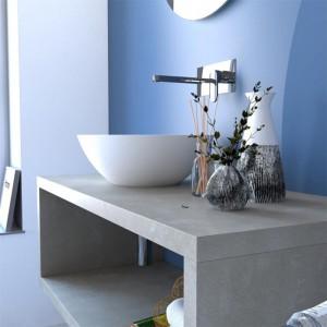 Composizione Bagno Aperta Sospesa Color Grigio Cemento da 110 cm Inbagno - 5