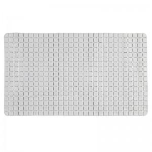 Tappeto antiscivolo in PVC mosaico Rettangolare Bianco