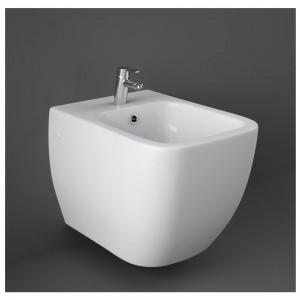 Bidet Sospeso Rak Ceramiche serie Metropolitan in ceramica Bianco