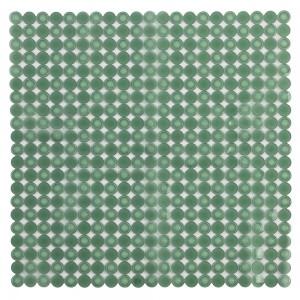 Tappetino Doccia Antiscivolo Verde 54 x 54 in PVC Mosaico per Piatto Doccia