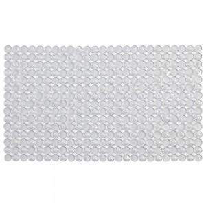 Tappeto Antiscivolo per Vasca e Doccia 70x40 Bianco in PVC a Mosaico