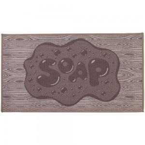 Tappeto Bagno Colorato 50x80 Soap Antiscivolo Feridras 100% Nylon Tortora