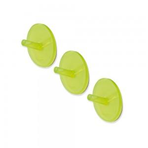 Set Tre Appendini in PP Adesivi Verde